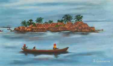 Pequeña isla - cuadros cisneros